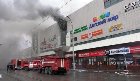 El centre comercial siberià on van morir 64 persones.