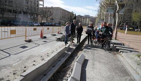 Carril bici de Rambla d'Aragó al Pont Universitat