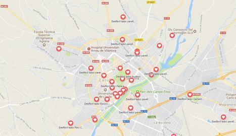 Lleida activa un mapa interactiu amb els 43 desfibril·ladors de la ciutat