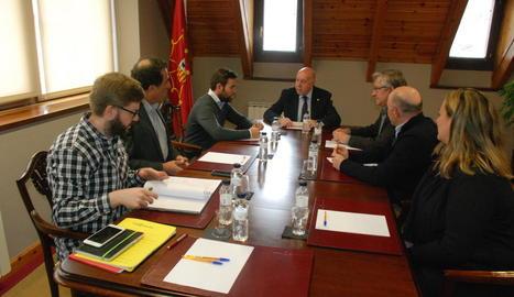 Reunió entre el Conselh Generau i la Fundació Pere Tarrés.