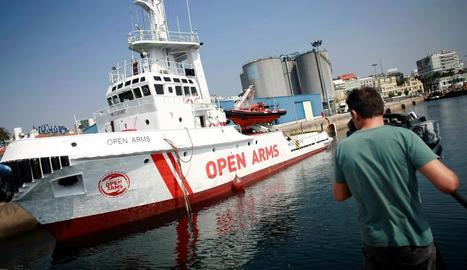 El vaixell insígnia de l'ONG Proactiva Open Arms, en una imatge d'arxiu.