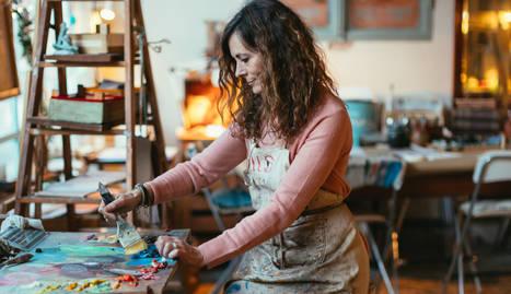 """Rous Laveda: """"La pintura és una teràpia imprescindible per   viure i gestionar les emocions"""""""