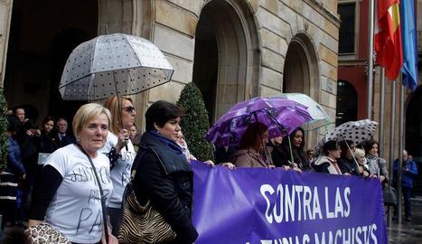 Imatge d'una protesta contra la violència masclista.