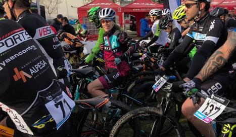 Ramona Gabriel, abans de la sortida d'una de les etapes.