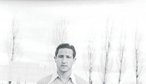 Remacha amb la samarreta del Lleida la temporada 1948-49.