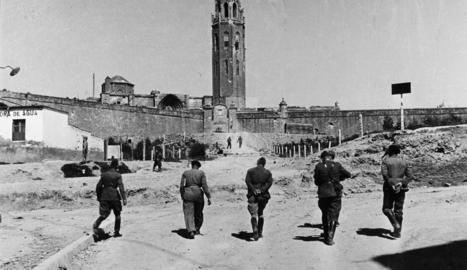 Militars franquistes i alemanys es dirigeixen a la Seu, caserna i també presó de represaliats