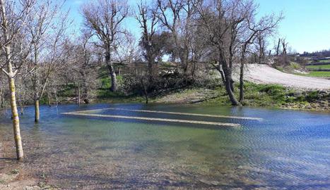 El pou de Madern de Vicfred es converteix en un llac per les pluges
