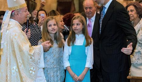 La infanta, ahir a El Escorial.