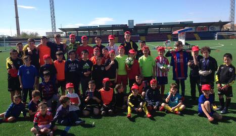 Col·laboració entre el CF Balaguer i Càritas a les estades del club