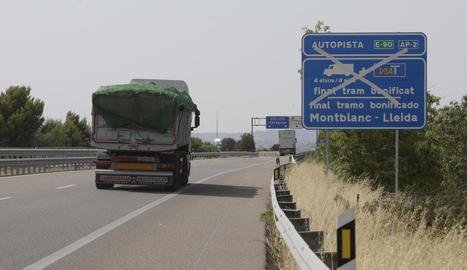 Hi va haver una prova de desviació voluntària de camions el 2015.
