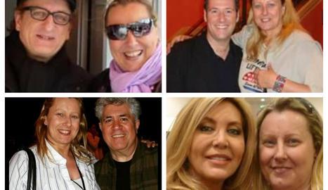Alguns dels famosos amb els quals s'ha fotografiat la Dolors.