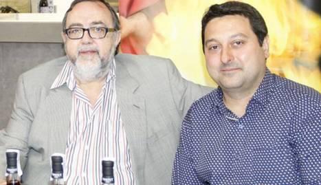 El propietari de la destil·leria, Àngel Portet, i el president de la Fecoll, Ferran Perdrix.
