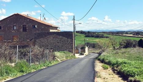 Imatge del nou aspecte de l'accés a Palou.