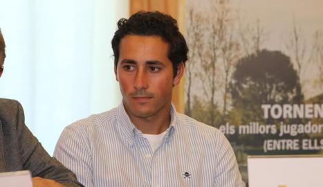 Carlos Pigem ahir a les instal·lacions del Raimat Golf Club.