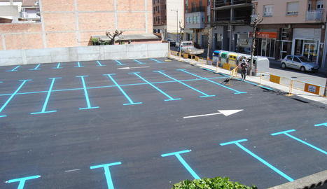 El nou estacionament del carrer Crist Rei de Mollerussa.