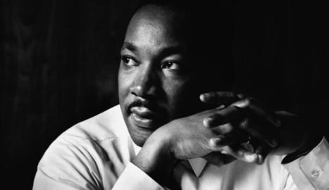 L'activista pro drets civils Martin Luther King.
