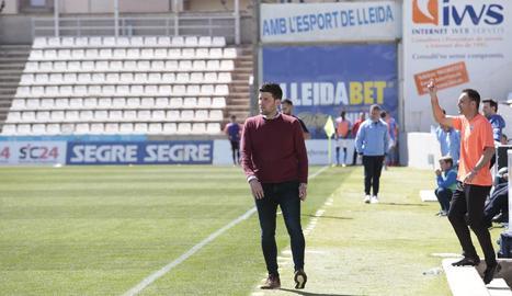 Gerard Albadalejo, en un moment del partit davant del Formentera.