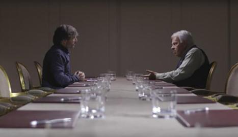 Un moment de l'entrevista de Jordi Évole a Felipe González.