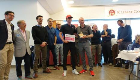 Pep Anglès va rebre un premi de mil euros pel seu triomf en la classificació de professionals.