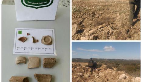 Imatges de la inspecció dels Rurals i de peces recuperades.