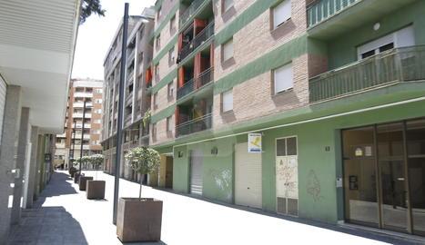 Un carrer del barri Noguerola de Lleida.