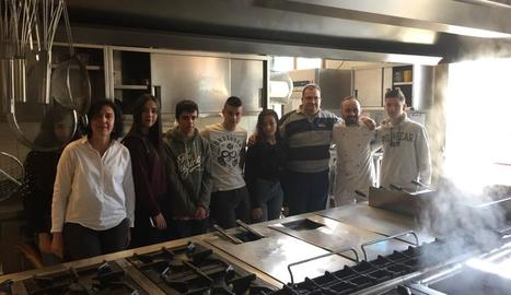 Els alumnes del curs de cuina que van anar a Itàlia.