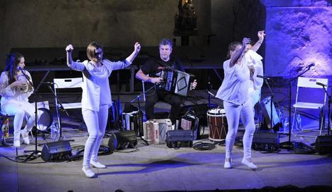 Concert de Kepa Junkera, en l'edició del 2017 del Dansàneu.