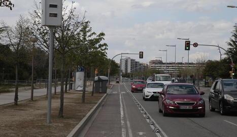 El radar del carrer Miquel Batllori va ser ahir un dels tres operatius.