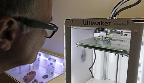 Presentació de la jornada sobre impressores 3D, ahir al campus de Cappont de la UdL.