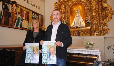 L'alcalde, Joan Sangrà, i la presidenta, Lorena Jurado.