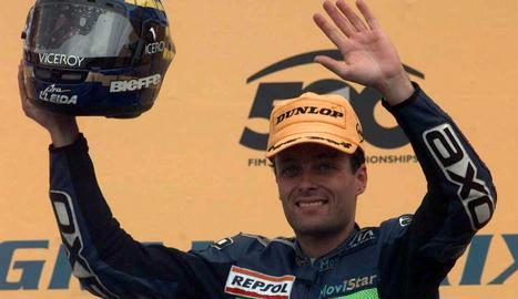 Emili Alzamora, campió del món de 125 cc.