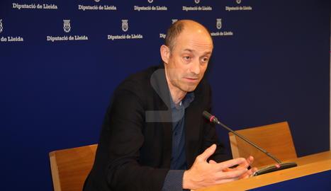 Xavier Monné durant la roda de premsa.