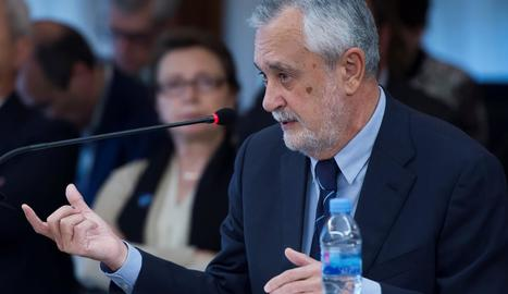 L'expresident de la Junta d'Andalusia, José Antonio Griñán, ahir al judici dels ERO.