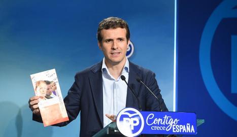El popular Pablo Casado, donant explicacions dimarts passat.