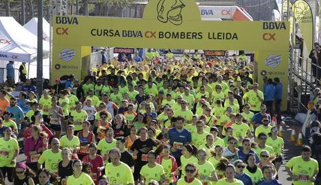 El Jaafari i Míriam Ortiz repeteixen com a guanyadors de la Cursa BBVA CX Bombers amb 2.500 corredors