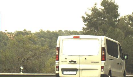 La captura del radar dels Mossos d'Esquadra, amb la furgoneta a 193 quilòmetres per hora.