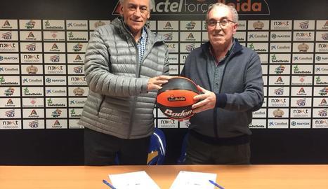 El Força Lleida i el CB Bellpuig firmen un conveni de col·laboració