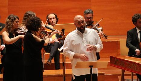 El contratenor Xavier Sabata al recital 'Alessandro Amante'.