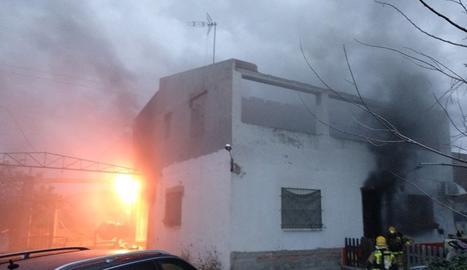 La casa afectada per un incendi aquest dilluns.