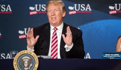 Donald Trump va presumir ahir a Florida dels beneficis de la seua reforma fiscal.