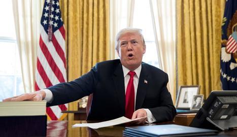El president dels Estats Units, Donald Trump, en una imatge d'arxiu.