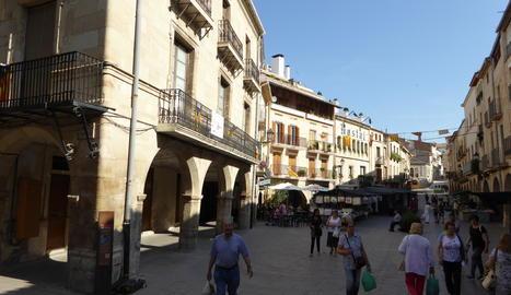 La plaça Major de les Borges Blanques