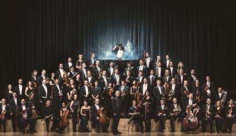 Imatge oficial de l'OBC, l'Orquestra Simfònica de Barcelona i Nacional de Catalunya.