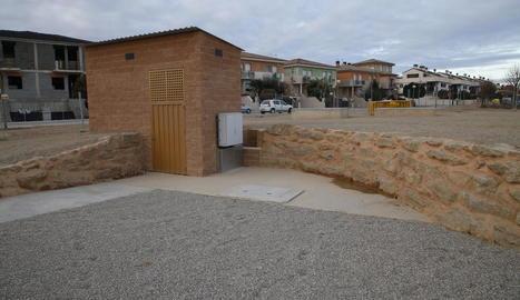 El tanc subterrani serà inaugurat avui oficialment.