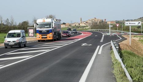 L'estat actual de la carretera entre Tàrrega i Guissona.