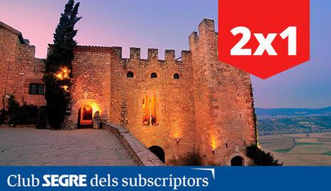 Vista d'un dels castells: el de Montsonís, a la Noguera.