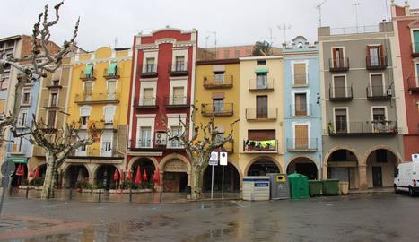 Imatge d'arxiu de la plaça Mercadal de Balaguer.