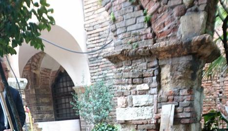 Sepulcre a Verona on van trobar les possibles restes de Torroja.