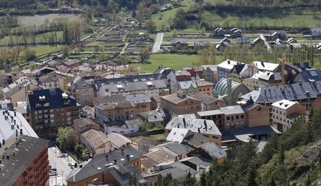 Vista del centre històric del Pont de Suert.