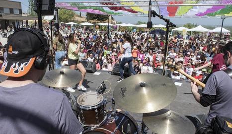 Actuació del grup Macedònia, cap de cartell d'aquesta edició del festival infantil de Tàrrega.